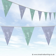 Wedding Day Bunting - Lilac and Mint Plain