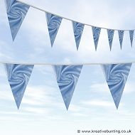 Wedding Day Bunting - Velvet Aqua Blue