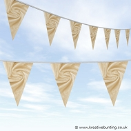 Wedding Day Bunting - Velvet Light Gold
