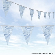 Wedding Day Bunting - Velvet Mint Blue
