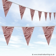 Wedding Day Bunting - Velvet Rose Pink