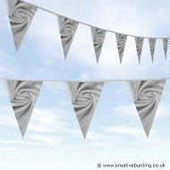Wedding Day Bunting - Velvet Silver Grey