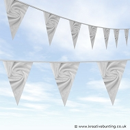 Wedding Day Bunting - Velvet Silver