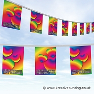 Wedding Day Bunting - Rainbow Hearts Design