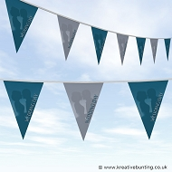 Wedding Day Bunting - Blue and Grey