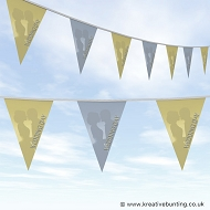 Wedding Day Bunting - Cream and Blue