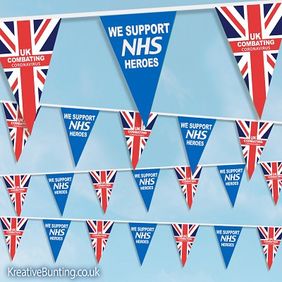 "NHS Supporter Bunting - ""We Support NHS Heroes"""