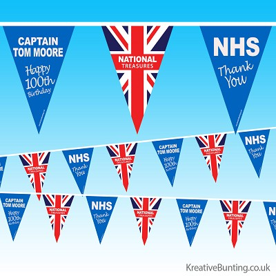 Captain Tom 100th Birthday Bunting