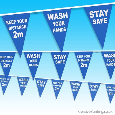 NHS Wash Hands Bunting, Keep your distance bunting, Stay Safe bunting
