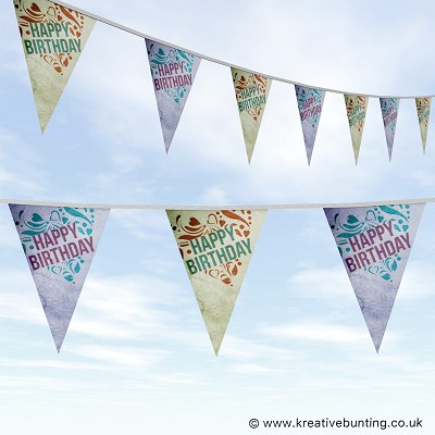 Birthday Bunting - Stamped Design
