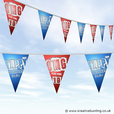 Personalised Birthday Bunting - OMG Design