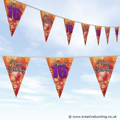 Sweet 16 Birthday Bunting Design 01