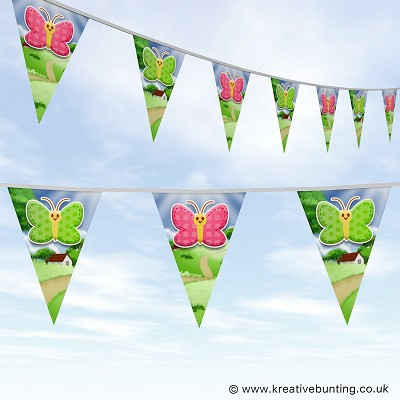 Animal Bunting Cute Butterfly Design