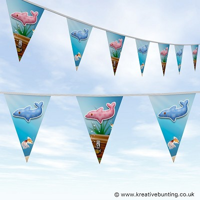 Animal Bunting Cute Dolphin Design