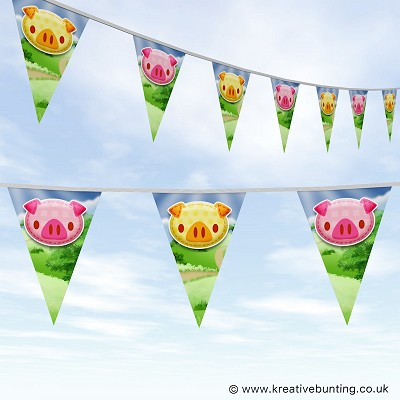 Animal Bunting Cute Pig Design