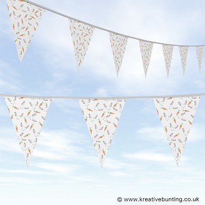 Animal Bunting Rabbit and Carrot Design