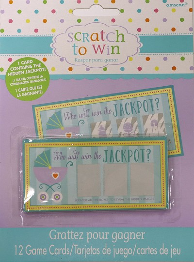 Baby Shower Party Games - Scratch to Win Scratch Cards x 12