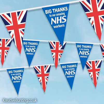 "NHS Supporter Bunting - ""Big Thanks to our amazing NHS workers"" design 1"