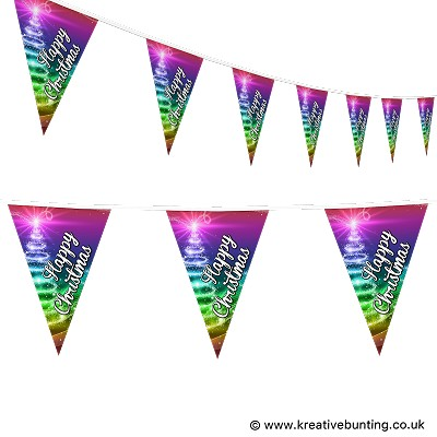 Christmas Bunting - Rainbow Design