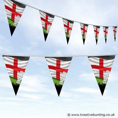 Sports Fan Bunting - England Flag Design