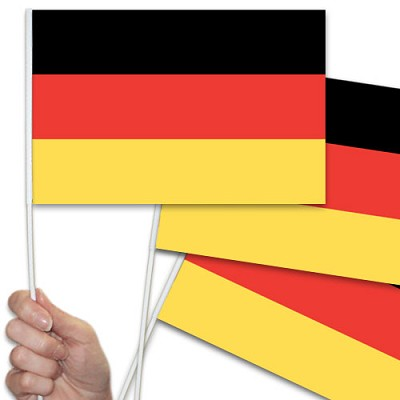 German hand waving flag