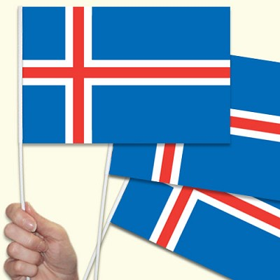 Iceland Handwaving Flags - 15 Pack