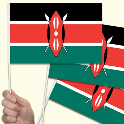 Kenya Handwaving Flags - 15 Pack