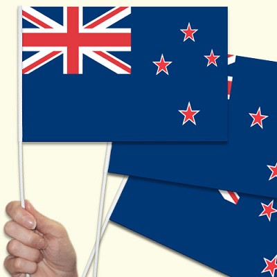 New Zealand Handwaving Flags - 15 Pack