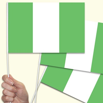 Nigeria hand waving flag