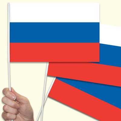 Russia hand waving flag image