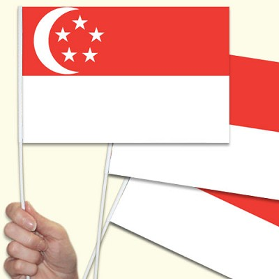 Singapore hand waving flag