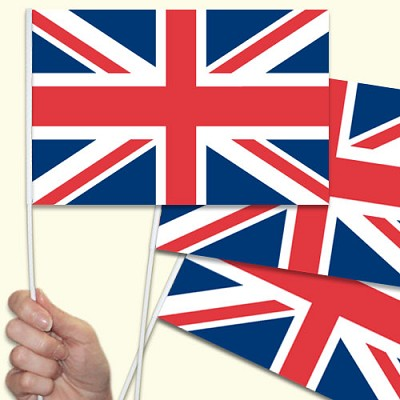Union Jack Handwaving Flags - 15 Pack