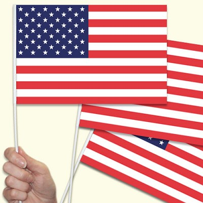 American hand waving flags image