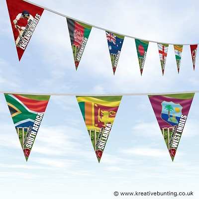 Cricket World Cup Bunting - All Teams