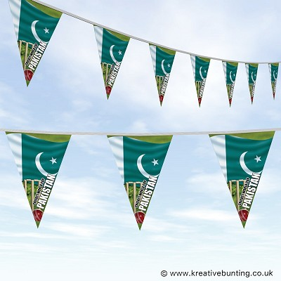 Cricket World Cup Bunting - Pakistan