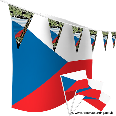 Czech Republic Football Bunting & Flags Bundle