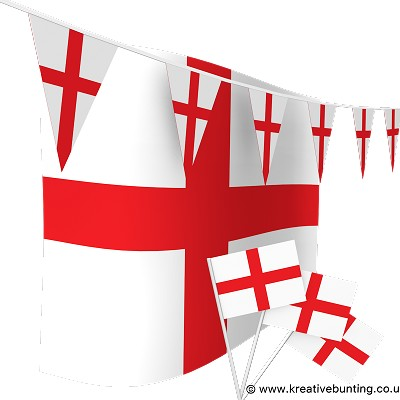 England Bunting & Flags Bundle
