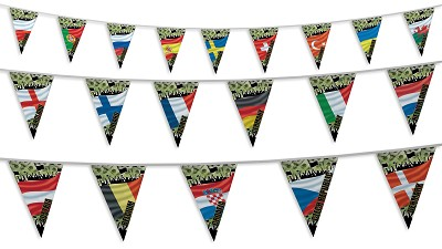 Euro 2020 Football Bunting - Crowd Design All Teams