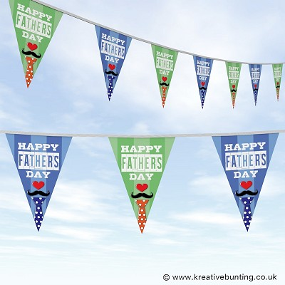 Fathers Day Bunting - Stripes and Tie Design