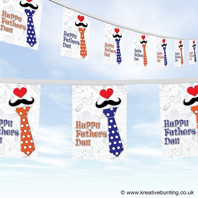 Fathers day spotty tie bunting