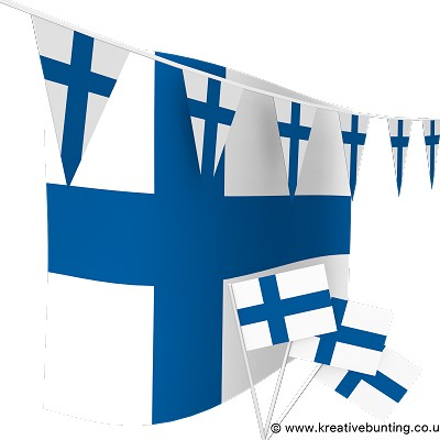 Finland Bunting & Flags Bundle