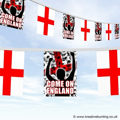 Come On England Football Bunting Version 2