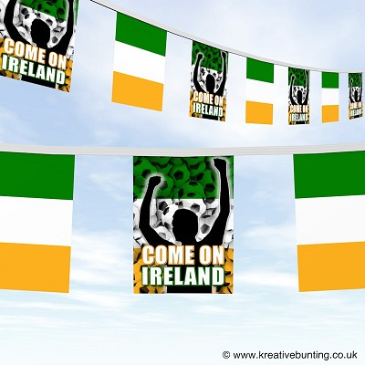Come On Ireland Football Bunting Version 2