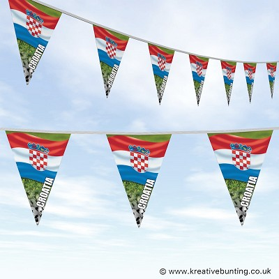 Croatia Football Bunting - Wavy Flag Design