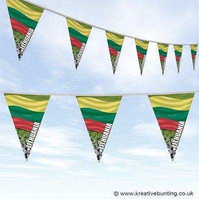 Lithuania Football Bunting - Wavy Flag Design
