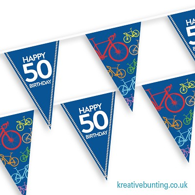 Cyclist Birthday Bunting