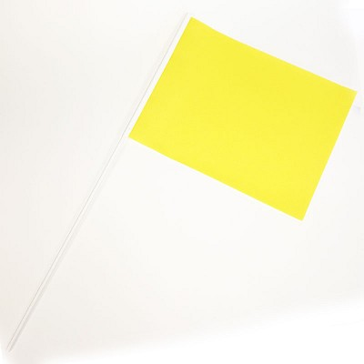 YELLOW School Sports Day Flags and team event flags in YELLOW (Pack of 10)