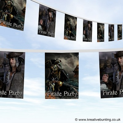 Pirate Party Bunting Version 1