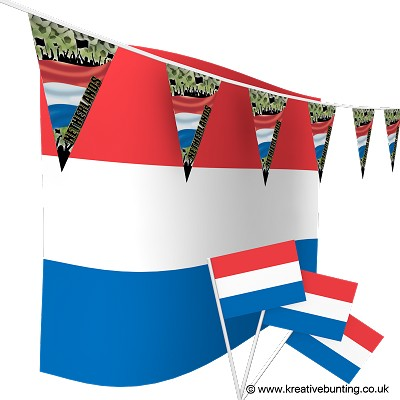 Netherlands Football Bunting & Flags Bundle