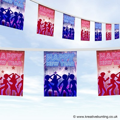 Happy New Year Bunting Design 2